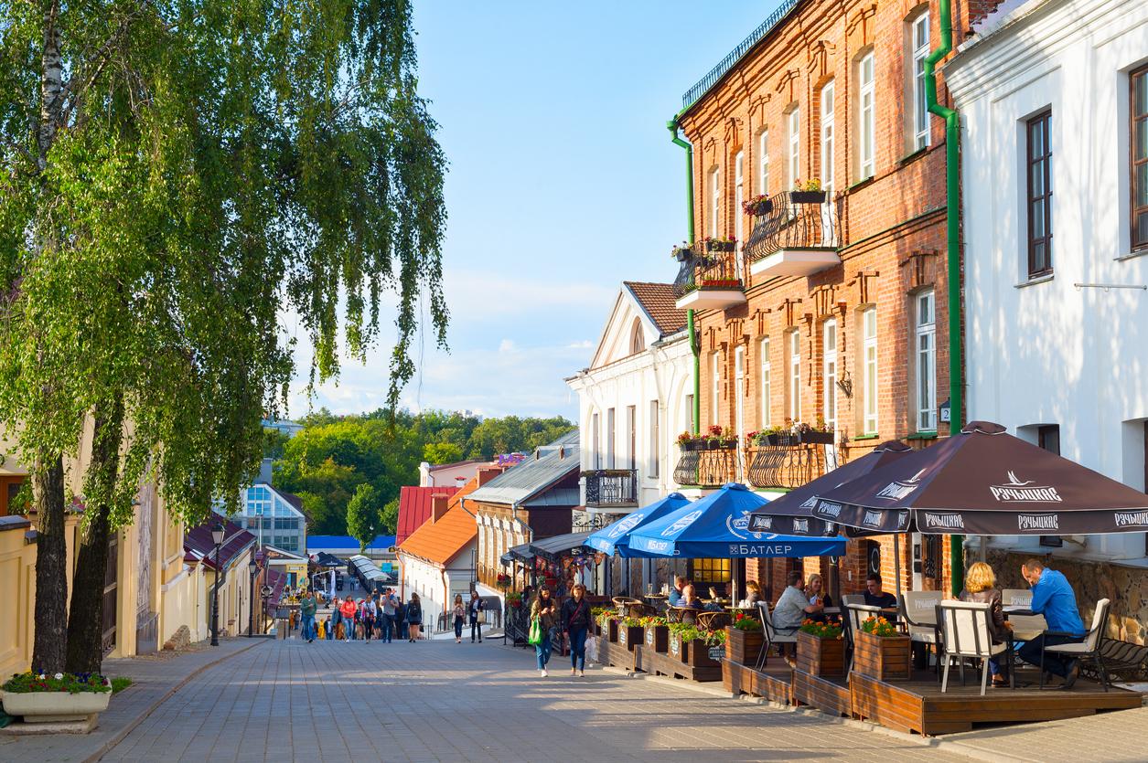 Old Town street Minsk