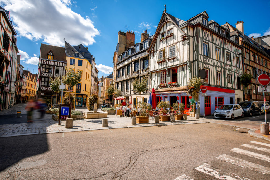 Rouen old town, France