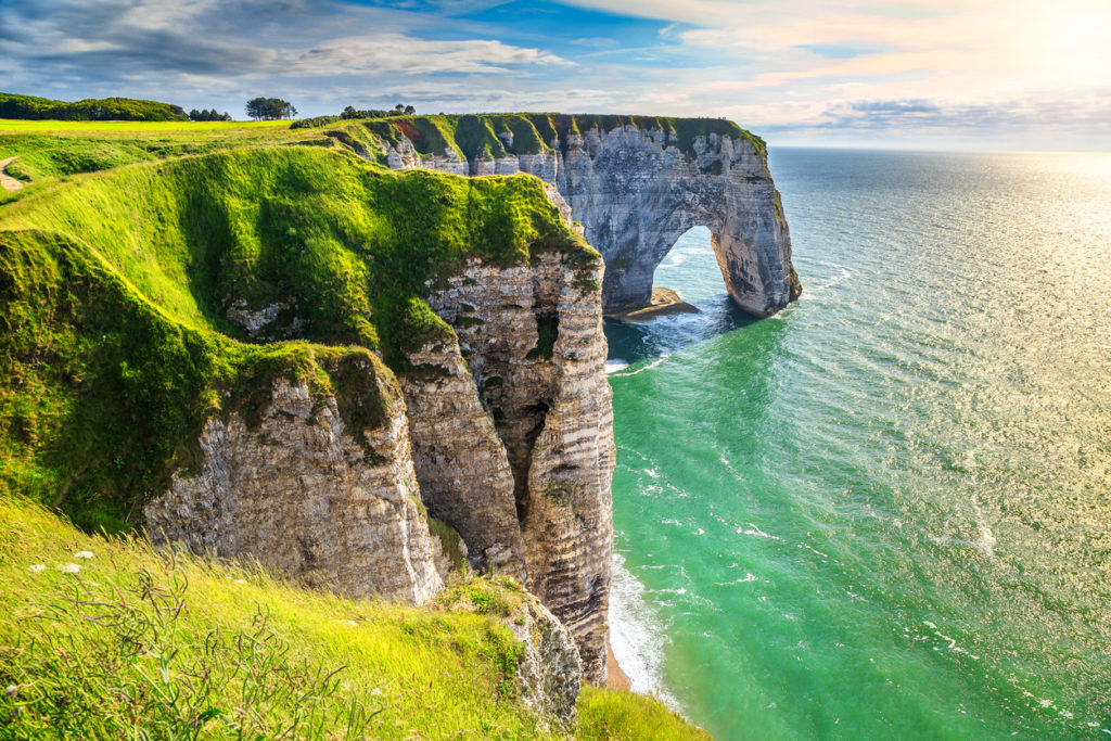 White Cliffs of Étretat, France