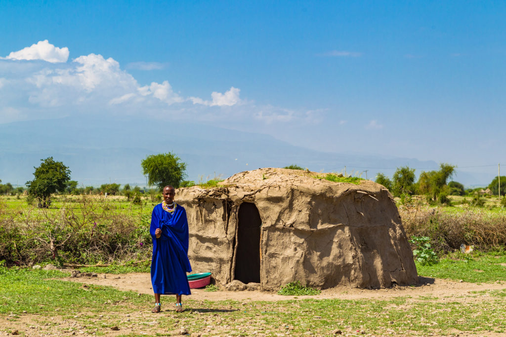 Traditional Masai village near Arusha, Tanzania.