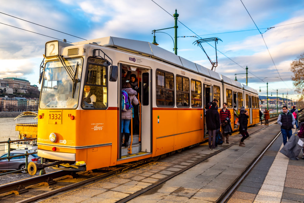 Traditional Tram in Budapest