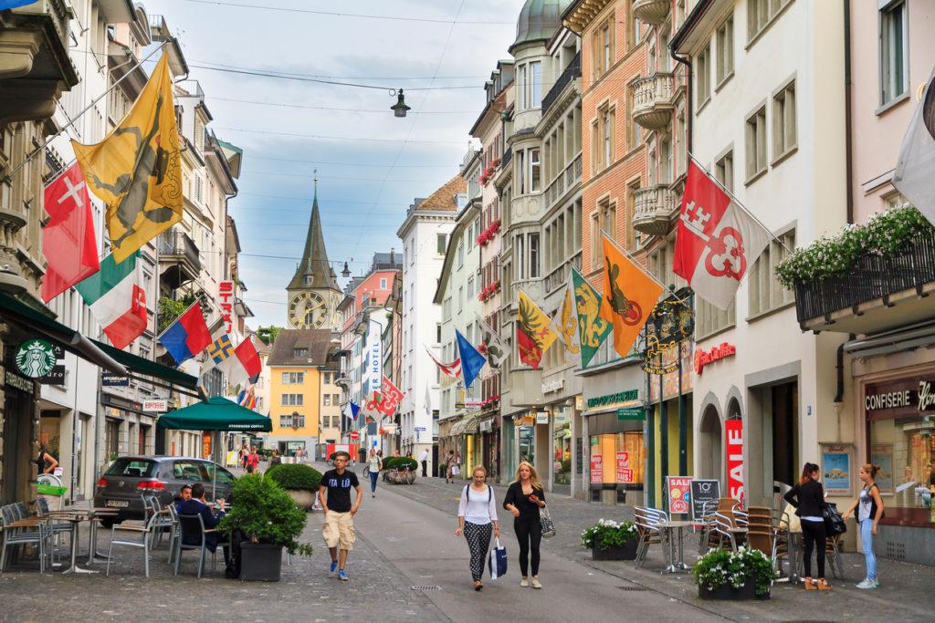 Zurich shopping street