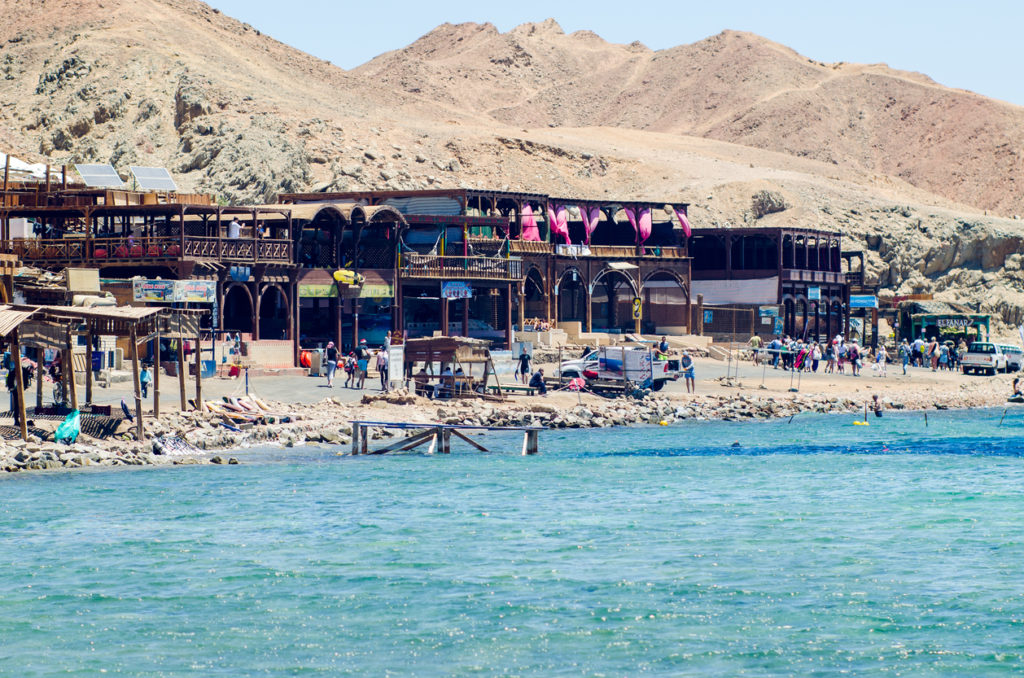 A small tourist village located on the banks of the blue hole in Dahab