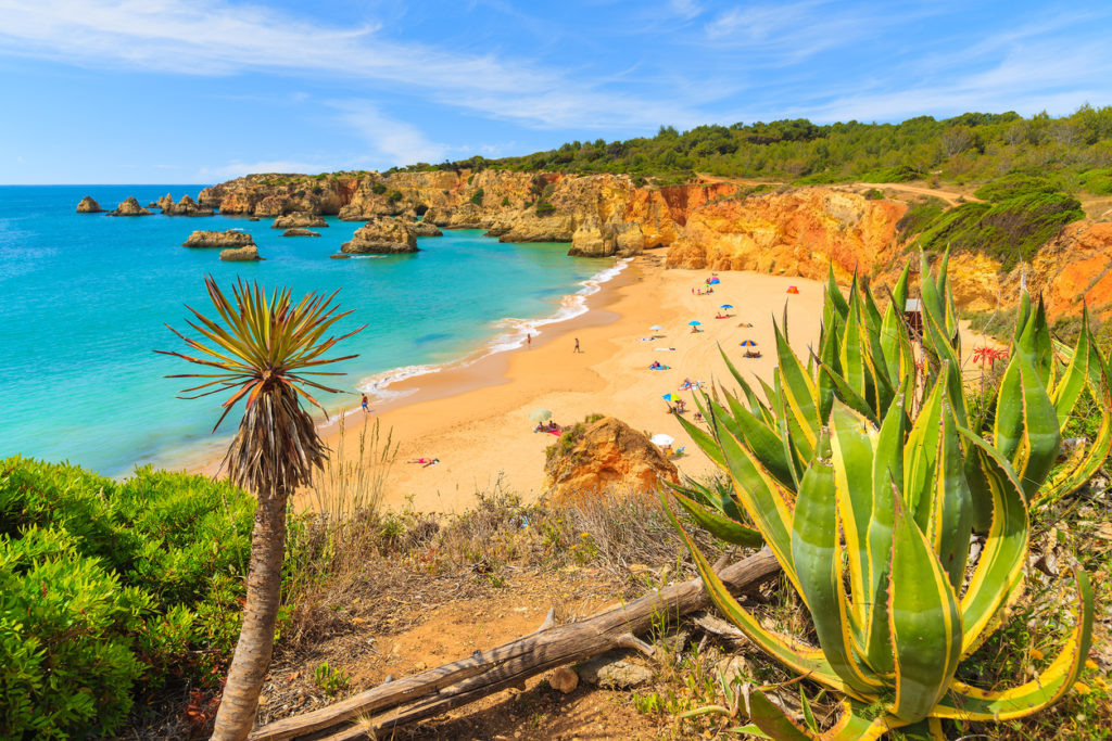 Beautiful beach near Portimao town, Algarve