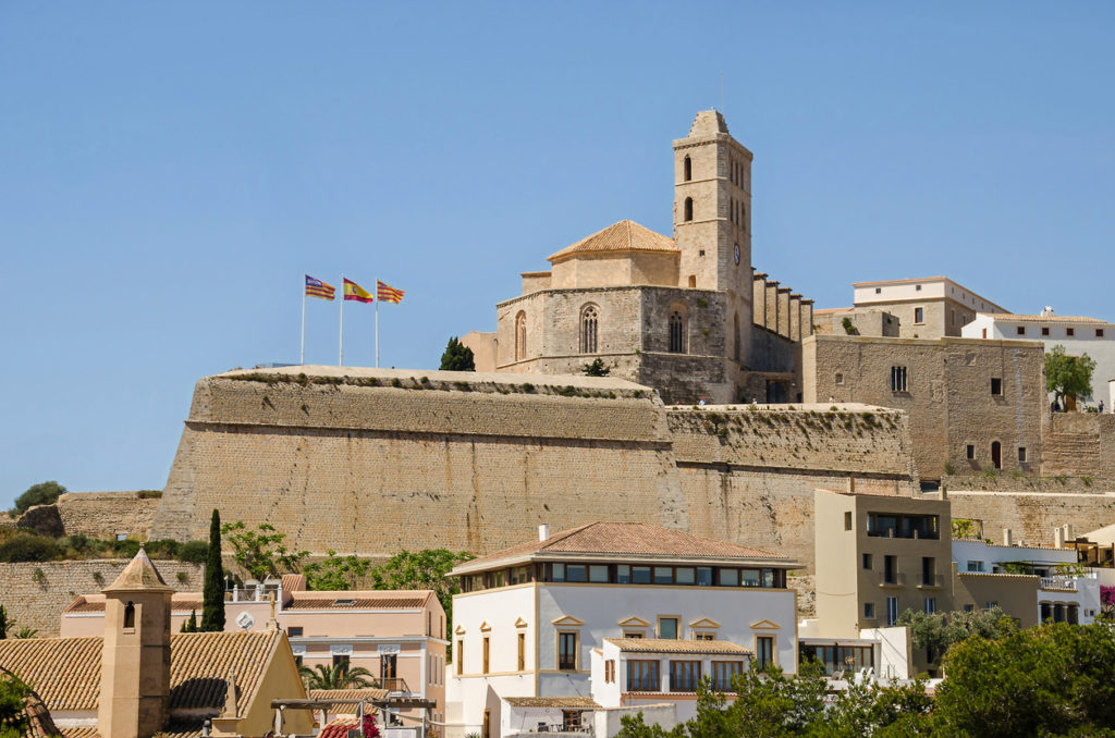 Cathedral of Santa Maria d'Eivissa in Ibiza town