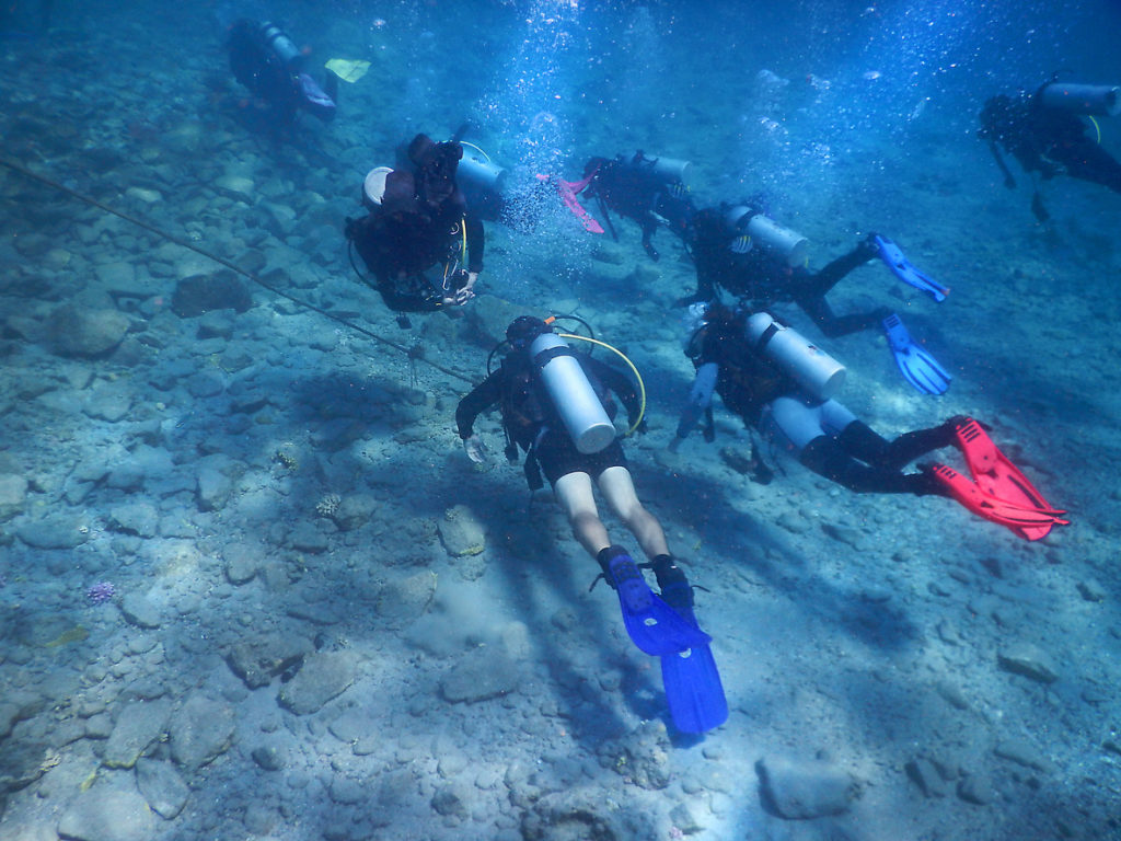 Divers in the Red Sea Gulf of Eilat