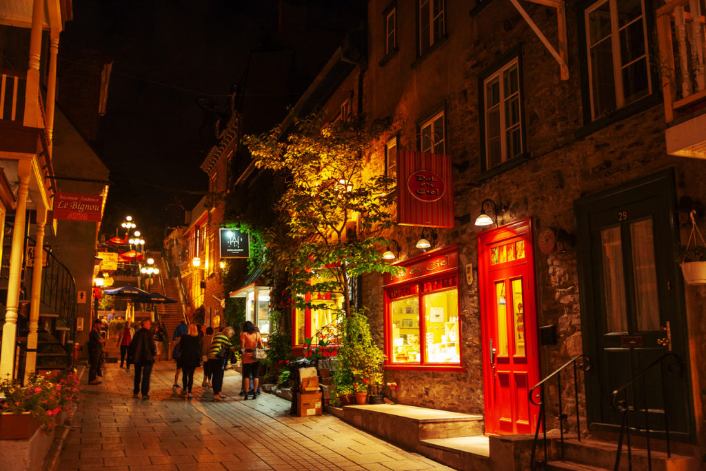 Lower Town of Place Royale at Old Quebec