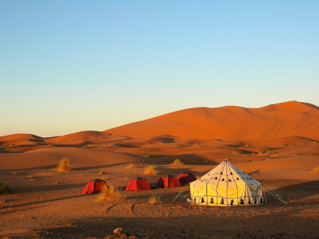 Spend the night in the desert