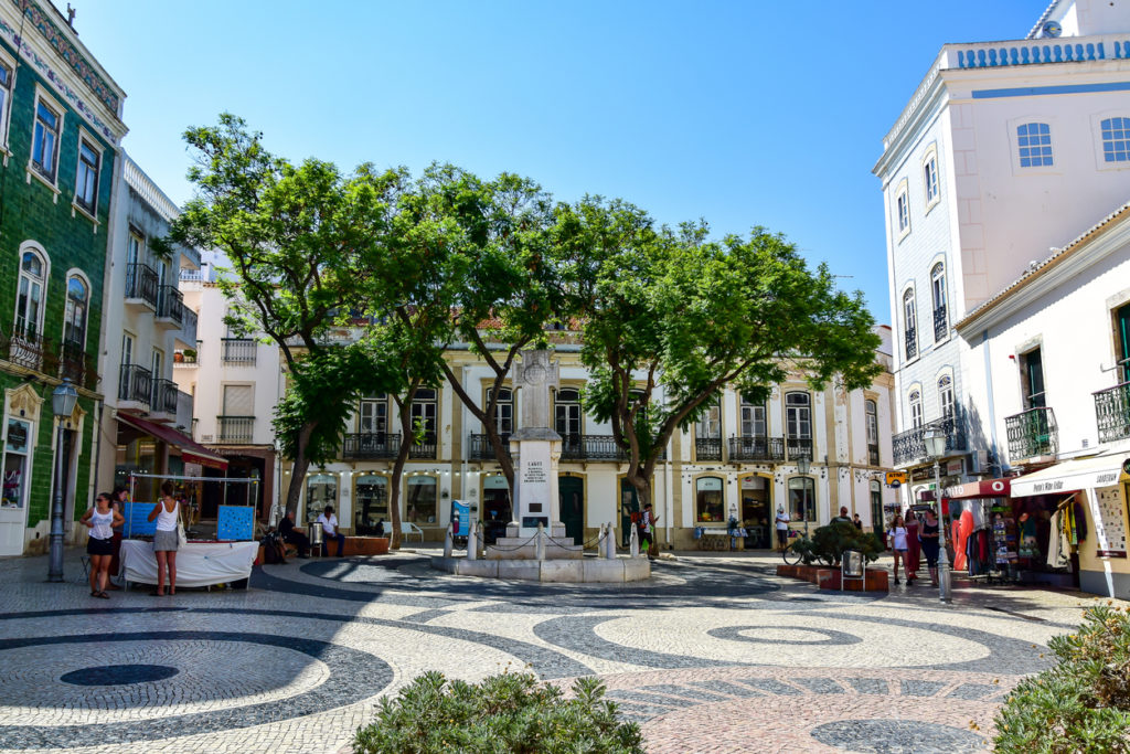 Square in Lagos, Algarve