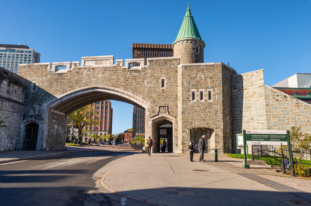 St John gate is part of the Ramparts of Quebec City.