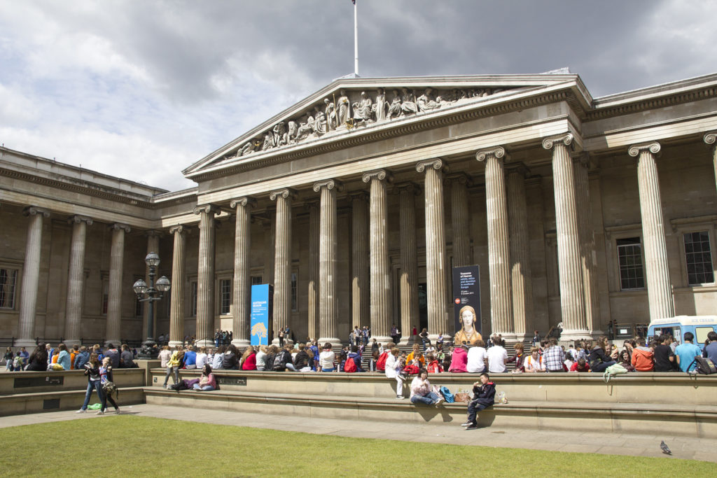 Tourists at the British Museum