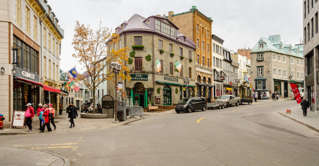 Upper town of Old Quebec city