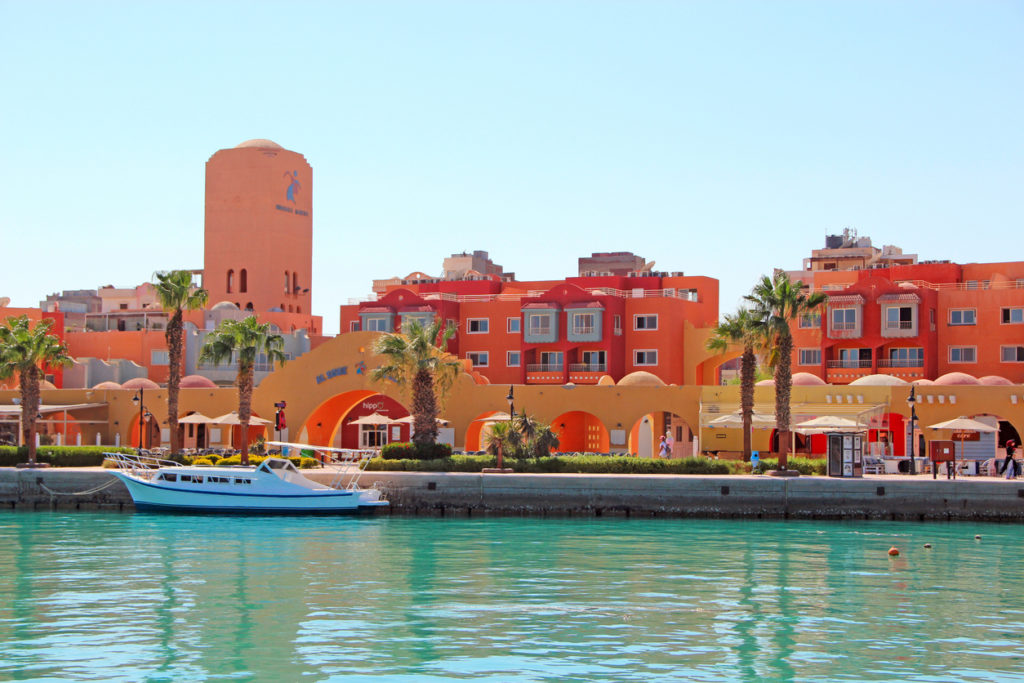 View of dock of Hurghada