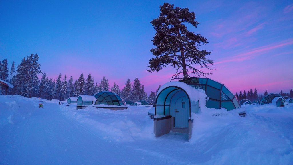Amazing Glass Iigloo Arctic Snow Hotel, Finland