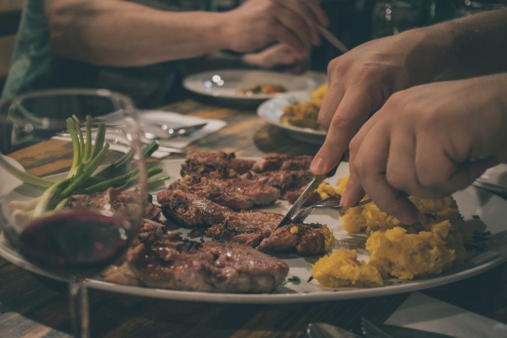 Enjoying Slovenian Food