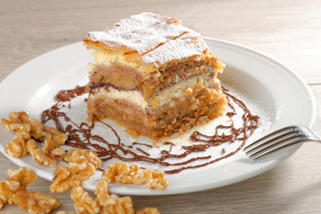 Gibanica - traditional Slovenian cake pie