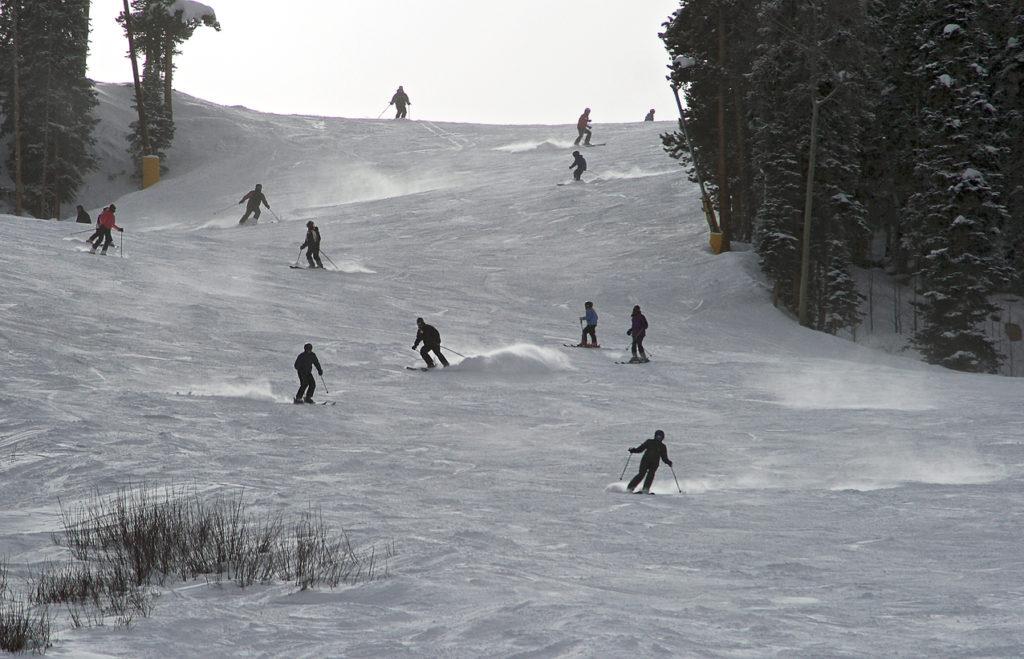 Mid season skiing at Breckenridge ski resort
