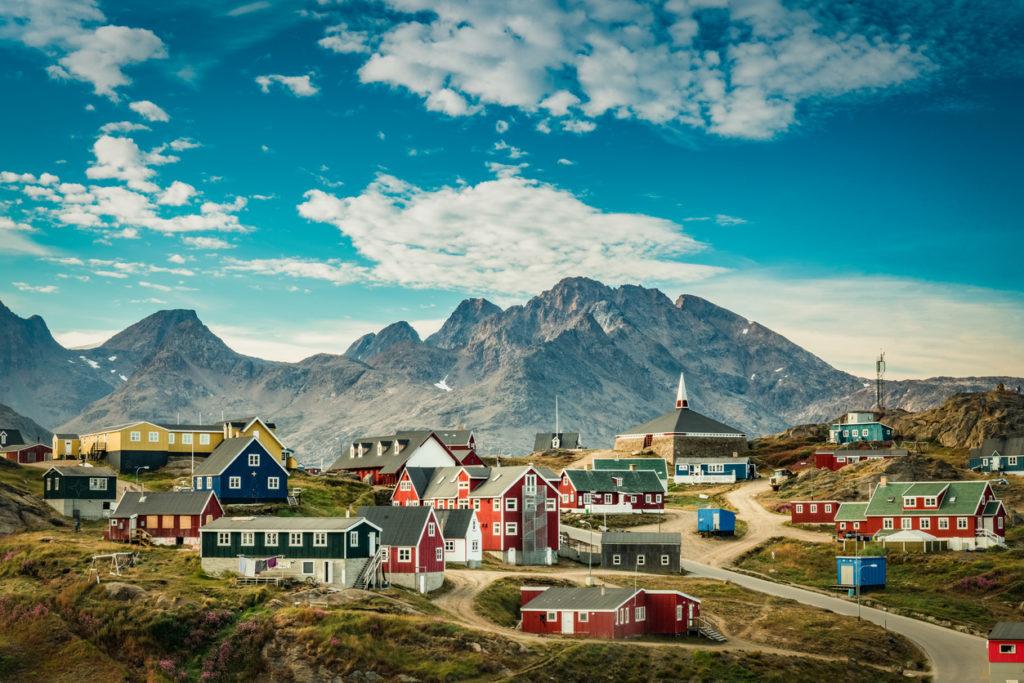 Picturesque village in Greenland
