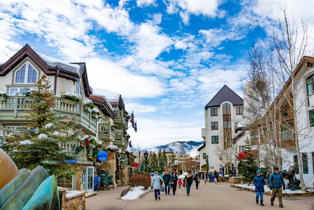 Vail village, small town at base of Vail Mountain