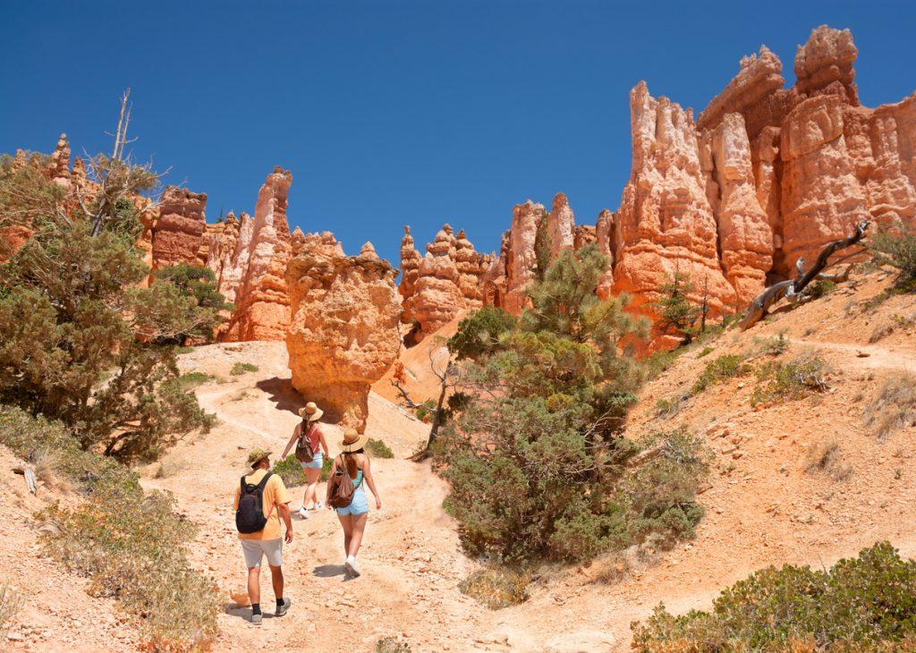 Exploring Utah on summer vacation hiking trip