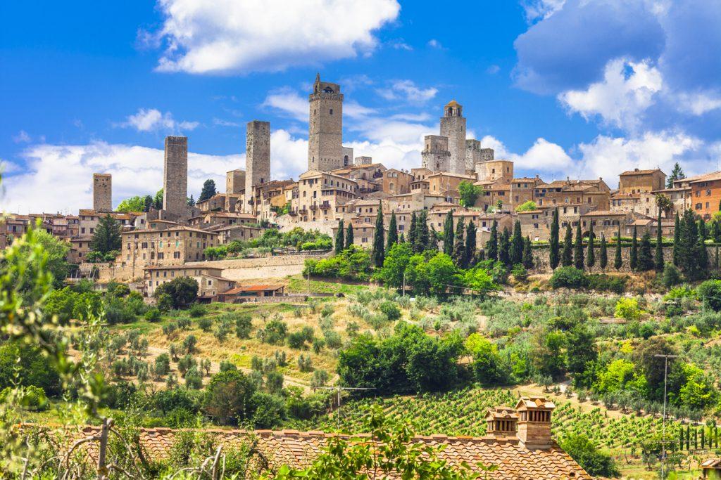 Impressive Medieval Town, San Gimignano, Tuscany, Italy.