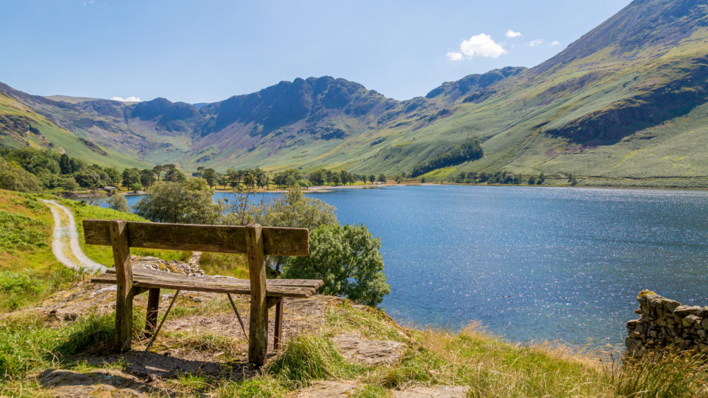 Bench overlooking Buttermere