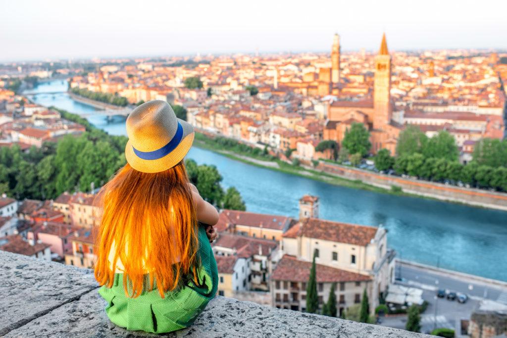 Enjoying the beautiful view of Verona