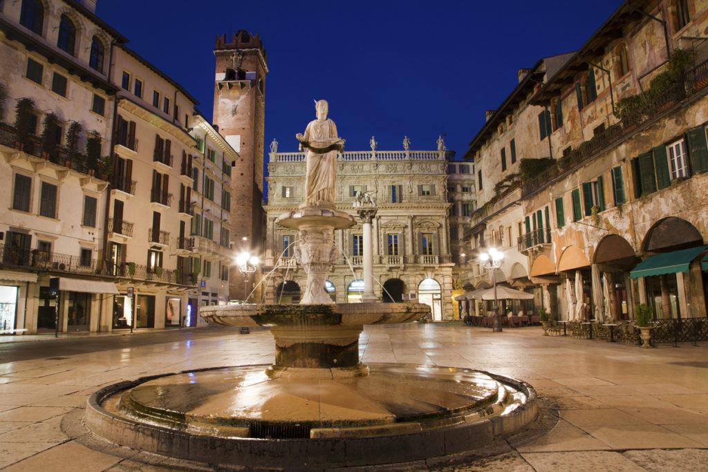 Fountain on Piazza Erbe