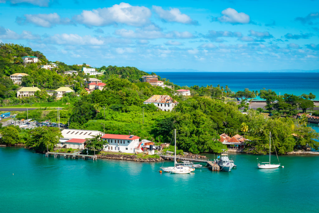 Harbor of Castries in St Lucia