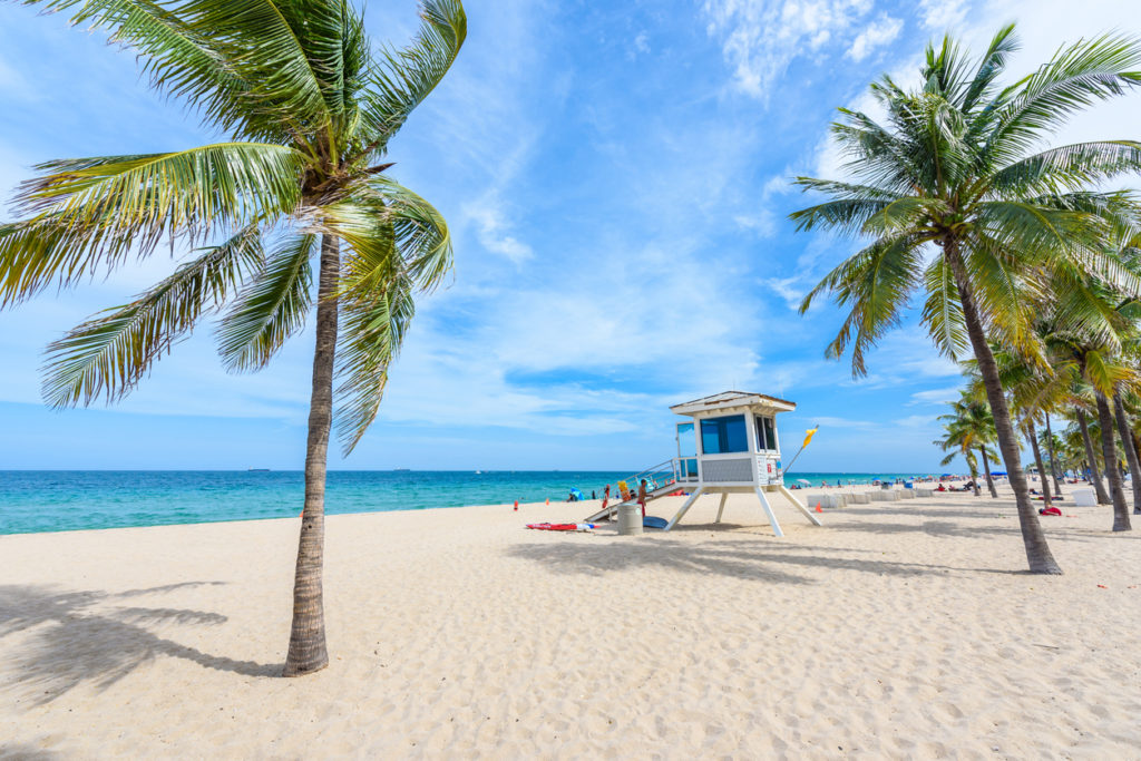 Paradise beach at Fort Lauderdale in Florida