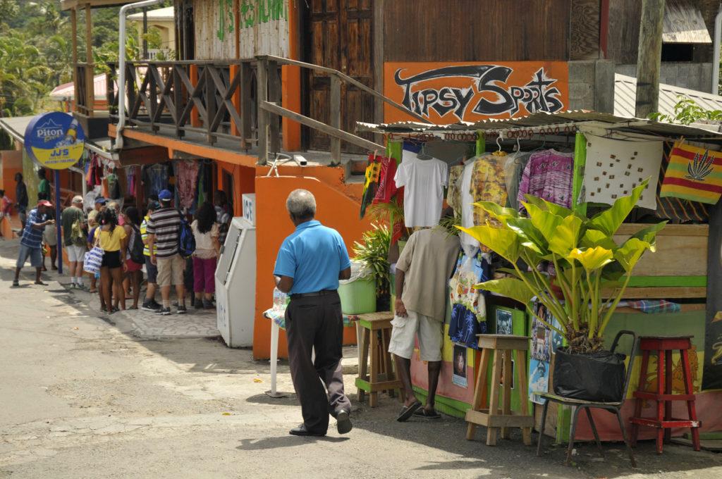 St. Lucia side walk
