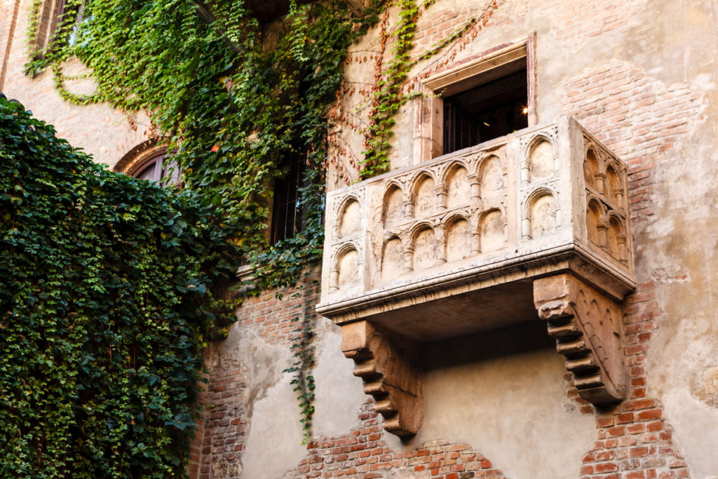 The Famous Balcony of Juliet Capulet Home in Verona