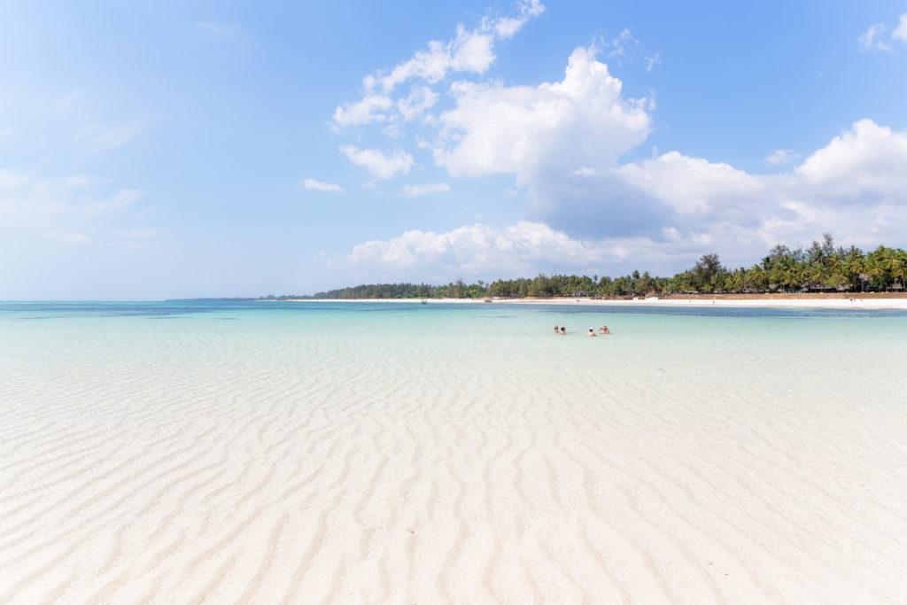 Clear ocean water in Kenya