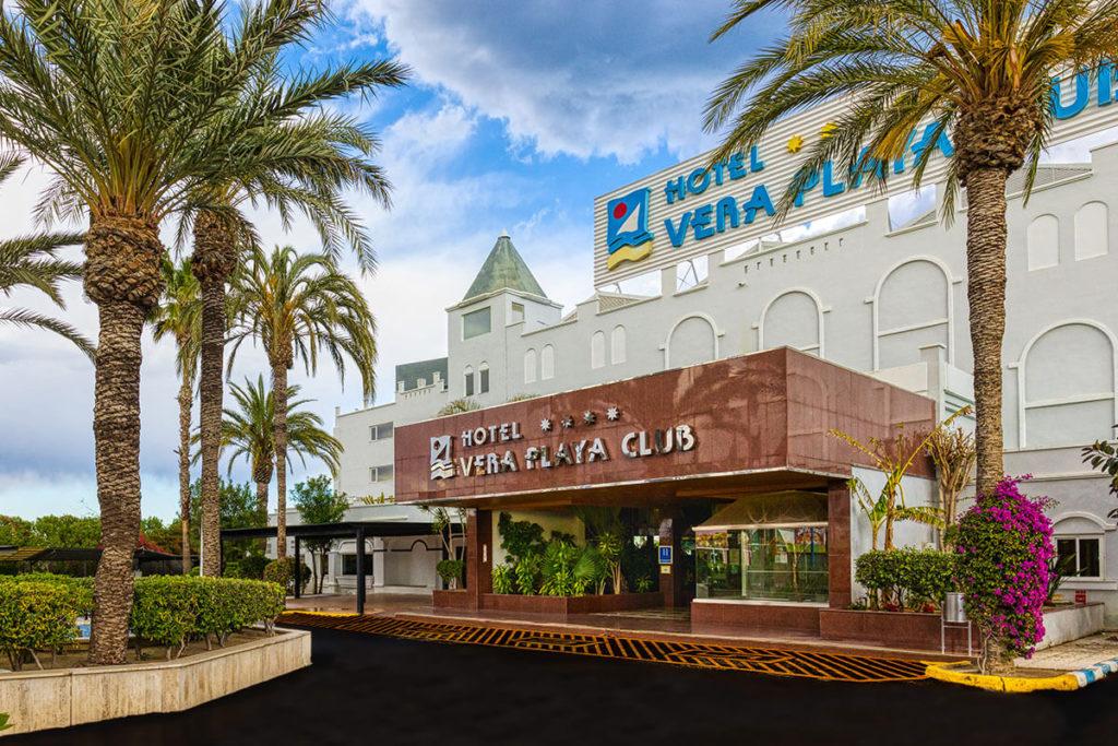Vera Playa Hotel Entrance - Spain