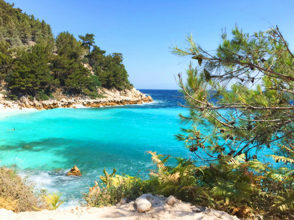 Beach view in Thassos