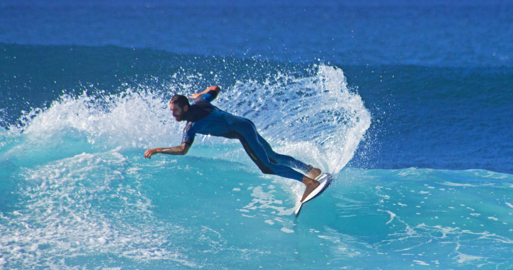 Cut Back move while Surfing in Playa De Las Americas