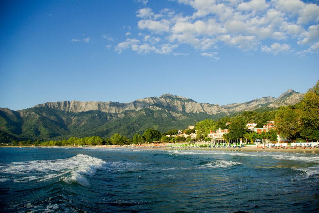 Skala Panagia, Golden beach, Thassos Island