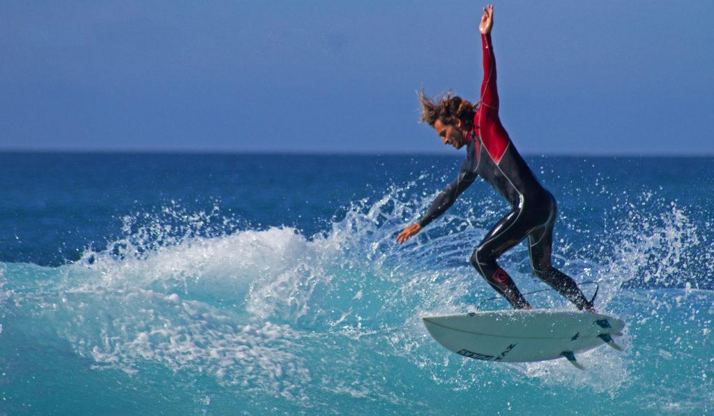 Surfing Aerial in Tenerife