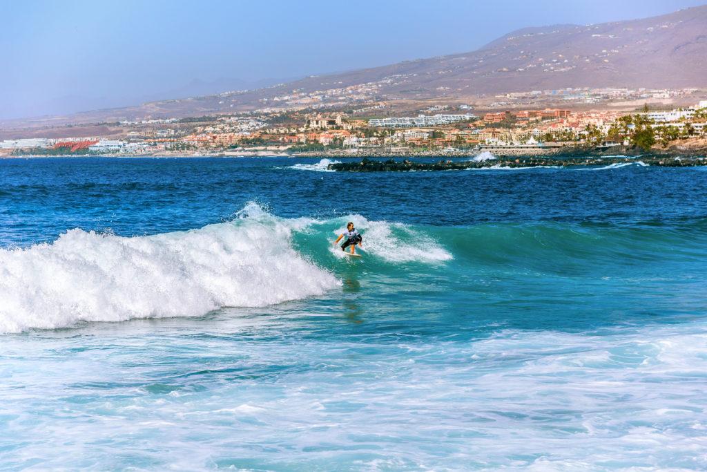 Surfing in Costa Adeje on Tenerife