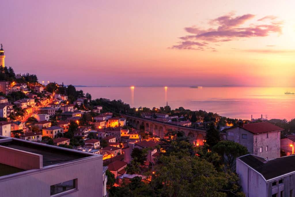 City of Trieste at Sunset