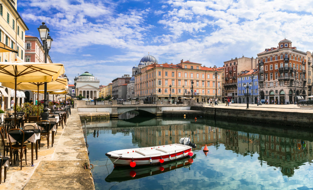 Elegant Trieste with charming streets and canals