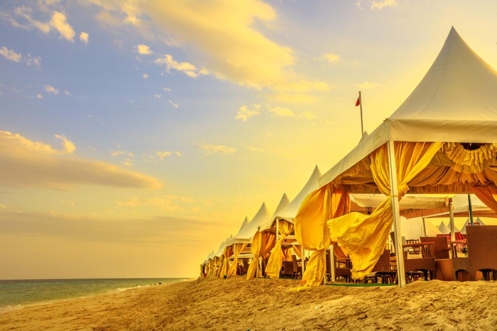 Luxurious tents at Khor al Udaid in Qatar
