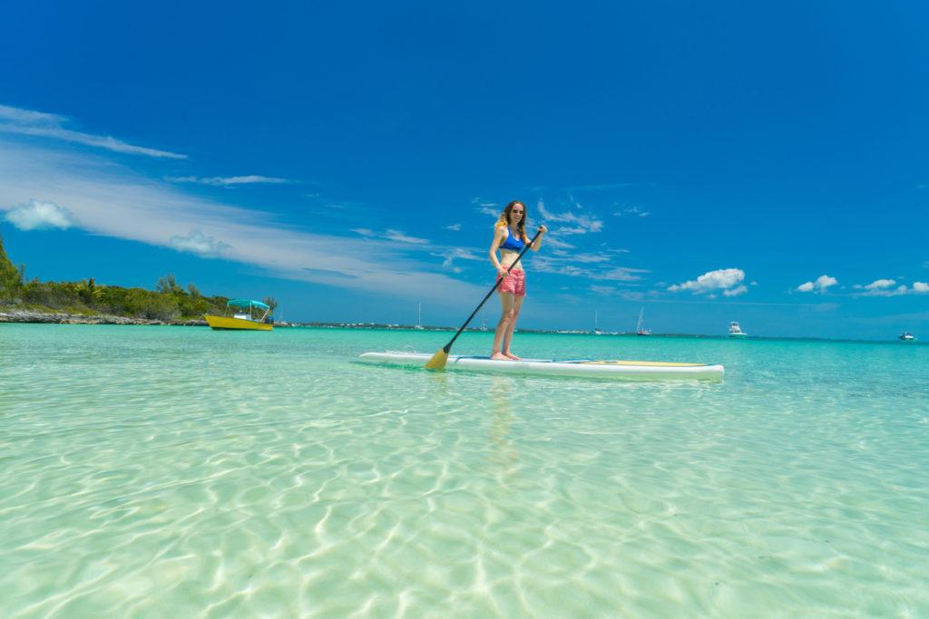 Paddleboarding in Bahamas
