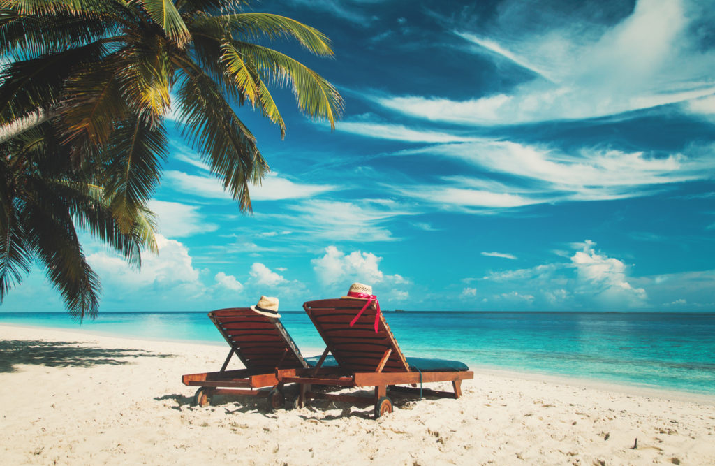 Relaxing in the Bahamas