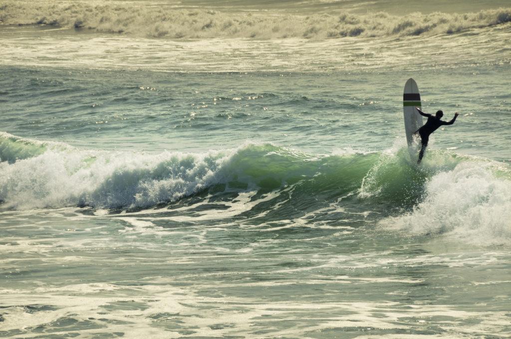 Surfing at Île d'Oléron