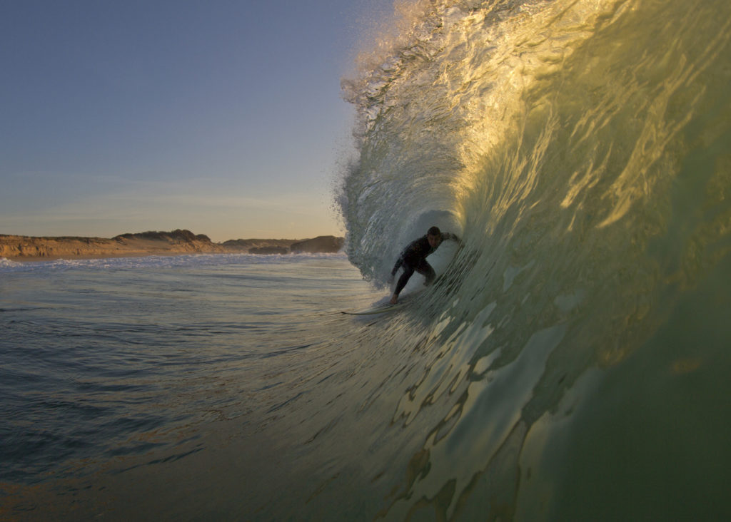 Surfing in Hossegor