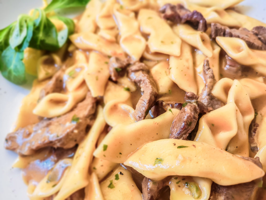 Traditional pasta from mediterrian place Istria with meal