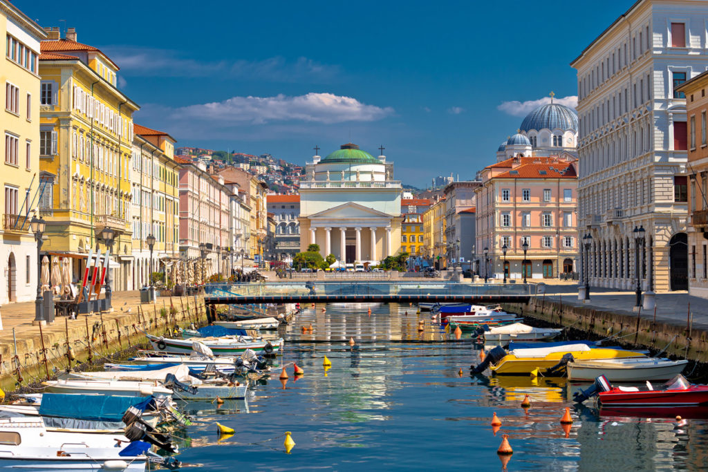 Trieste channel and Ponte Rosso square