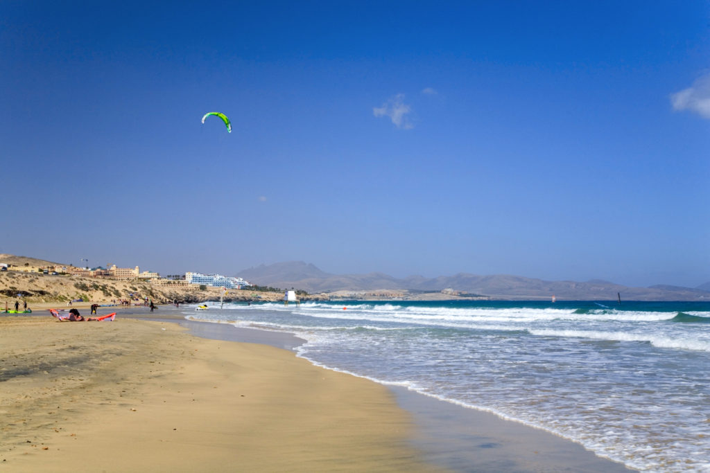 Kite Surfing South of Costa Calma
