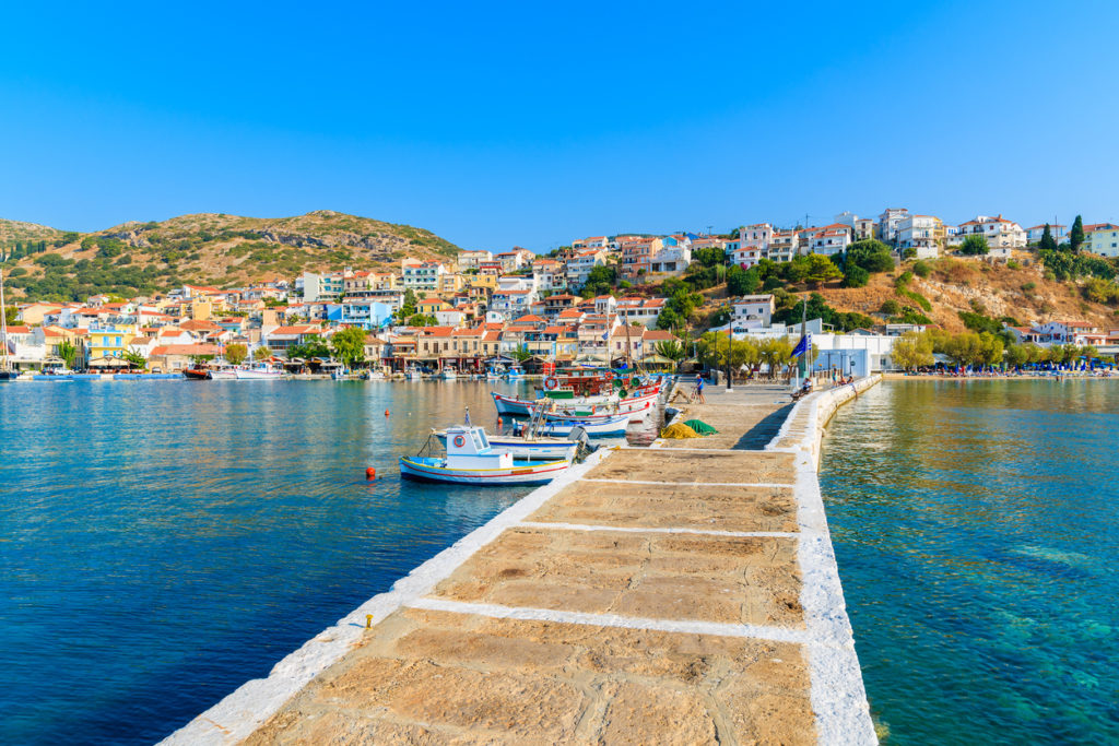 Pier in Pythagorion